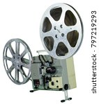 a movie projector is an opto... | Shutterstock . vector #797219293