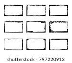 set of grunge frames ...   Shutterstock .eps vector #797220913
