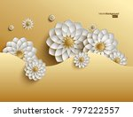 3d golden arabesque style... | Shutterstock .eps vector #797222557