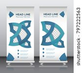 business roll up banner with... | Shutterstock .eps vector #797222563