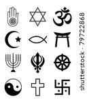 a set of religious symbols.... | Shutterstock . vector #79722868