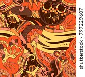 seamless mehndi vector pattern. ... | Shutterstock .eps vector #797229607