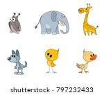 vector illustration of six... | Shutterstock .eps vector #797232433