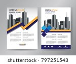 design cover book  blue and... | Shutterstock .eps vector #797251543