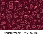 hand drawn valentine's day... | Shutterstock .eps vector #797252407