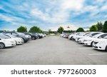 car parking in large asphalt...