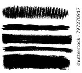 vector brush strokes. set of... | Shutterstock .eps vector #797270917