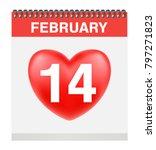 valentine's day 14 february on... | Shutterstock .eps vector #797271823