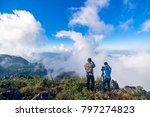 outdoor photographer concept on ... | Shutterstock . vector #797274823