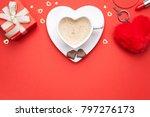 valentines day background. copy ... | Shutterstock . vector #797276173