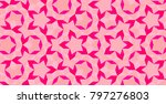 abstract stained glass deeppink ... | Shutterstock . vector #797276803