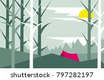 illustration in flat style on... | Shutterstock .eps vector #797282197