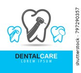dental care and tooth vector... | Shutterstock .eps vector #797290357