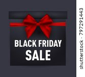 black friday gift box. vector... | Shutterstock .eps vector #797291443