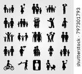 humans icon set vector. girl ... | Shutterstock .eps vector #797301793