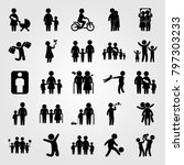 humans icon set vector. love ... | Shutterstock .eps vector #797303233