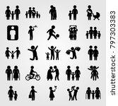 humans icon set vector. girl ... | Shutterstock .eps vector #797303383