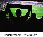 crowd of footbal supporters and ... | Shutterstock . vector #797308597