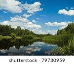 lake landscape with blue sky | Shutterstock . vector #79730959