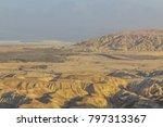 judean desert mountains and... | Shutterstock . vector #797313367