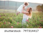 beautiful child girl with...   Shutterstock . vector #797314417