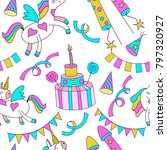 seamless pattern. magical... | Shutterstock .eps vector #797320927