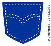 blue jeans single pocket vector