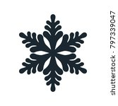 snowflake icon  vector simple... | Shutterstock .eps vector #797339047
