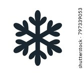 snowflake icon  vector simple... | Shutterstock .eps vector #797339053
