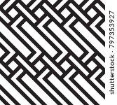 black and white geometric... | Shutterstock .eps vector #797353927