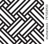 black and white geometric... | Shutterstock .eps vector #797353933