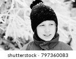 winter portrait of a adorable... | Shutterstock . vector #797360083