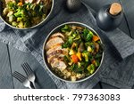 healthy chicken and quinoa bowl ... | Shutterstock . vector #797363083