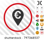 euro map marker grey pictograph ... | Shutterstock .eps vector #797368537