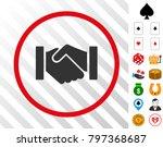 relation handshake grey... | Shutterstock .eps vector #797368687