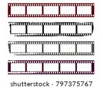 film strips set. abstract... | Shutterstock .eps vector #797375767