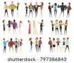 set of business teams front and ...   Shutterstock . vector #797386843