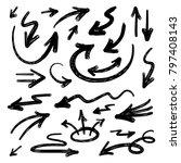 illustration of grunge sketch... | Shutterstock .eps vector #797408143