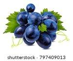 fresh grapes isolated on white... | Shutterstock . vector #797409013