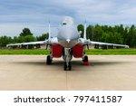 fighter bomber jet  military...   Shutterstock . vector #797411587