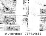 grunge black and white pattern. ... | Shutterstock . vector #797414653