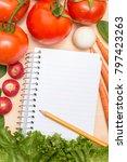vegetable background   lettuce  ... | Shutterstock . vector #797423263