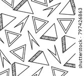 geometric seamless pattern with ... | Shutterstock .eps vector #797426863