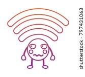 cartoon wifi internet signal...