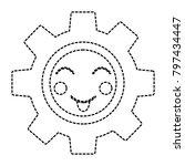 happy gear kawaii icon image
