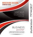 flyer or brochure template ... | Shutterstock .eps vector #797442817