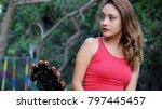 impatient attractive female | Shutterstock . vector #797445457