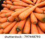 carrot organic. food background | Shutterstock . vector #797448793