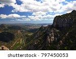 valley hills rocks clouds | Shutterstock . vector #797450053