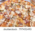 background pizza. sold in your... | Shutterstock . vector #797451493